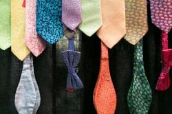 colorful bow ties and neck ties