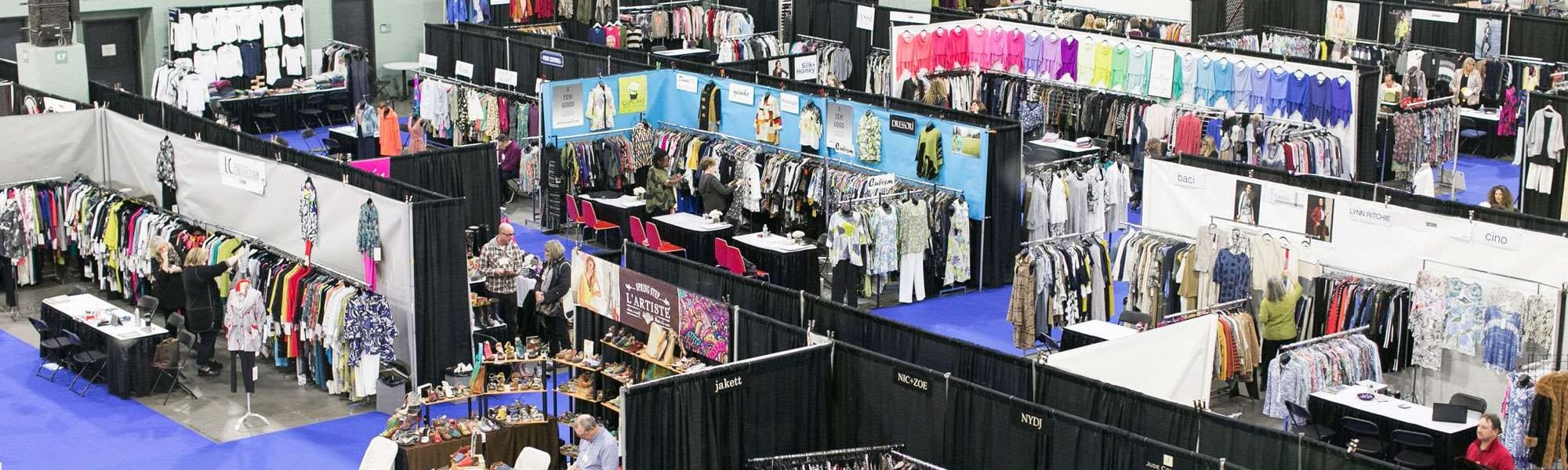 A birds-eye view of New England Apparel Club's January 2020 trade show at the DCU Center in Worcester, MA