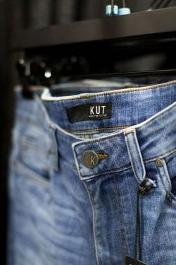 Kut jeans on a rack