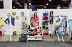 Joules trade show booth at the New England Apparel Club trade show