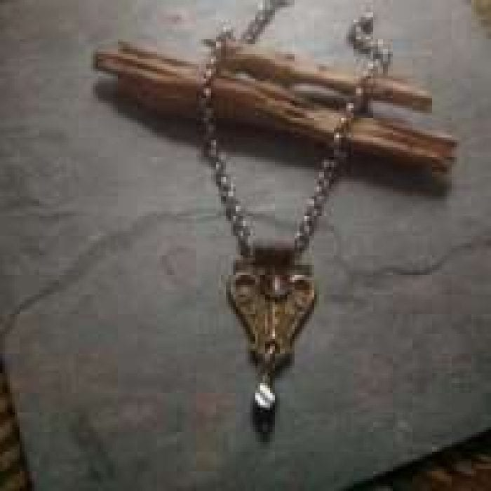 antique metal necklace